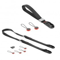 Peak Design Compact Strap Pack Black - Set mit Leash-Kameragurt und Cuff-Handgelenkschlaufe