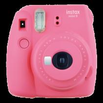 FUJI INSTAX MINI 9 flamingo Set (Fujifilm Instax Mini 9+10er Pack Film + Instax Mini Film Rainbow + 10er Clips + Fotoseil)