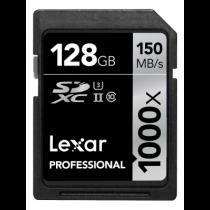 Lexar SDXC Card 128GB 1000x Professional UHS-II