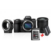Nikon Z6 + Nikkor Z 24-70mm 4.0 + FTZ Adapter inkl. XQD 64 GB & Nikon zusatzakku EN-EL15b