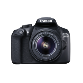 Canon EOS 1300D + EF-S 18-55 / 3.5-5.6 IS II + EF-S 55-250 / 4.0-5.6 IS STM, Tasche – schwarz