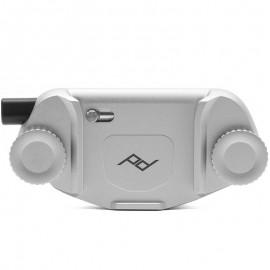 Peak Design Capture Clip v3 Silver - Kameraclip zum Tragen von DSLR-/DSLM-Kameras an Gurten oder Gürteln