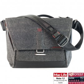 "Peak Design Everyday Messenger Bag 13 V2 Charcoal - Fototasche für 1 DSLR-Kamera, 1-2 Objektive, 1 13""-Notebook, 1 Stativ und Zubehör (dunkelgrau)"