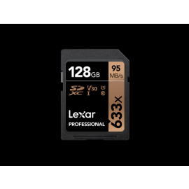 Lexar SDXC Card 128GB Professional 633x UHS-I V30 U3