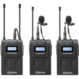 Boya  WM8 Pro-K2 UHF Dual-Channel Wireless Mikrofon mit One Receiver und Two Transmitter