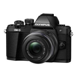 Olympus OM-D E-M10 Mark II Kit inkl. 14-42 / 3.5-5.6 II R – schwarz inkl. SanDisk Ultra 533x 32 GB SD UHS-I Karte