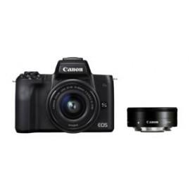 Canon EOS M 50 + EF-M 15-45 / 3.5-6.3 IS STM + EF 50 / 1.8 II + Adapter  ( inkl. SD 64 GB + Original Zusatzakku )