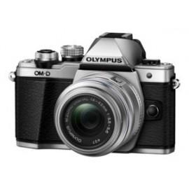 Olympus OM-D E-M10 Mark II Kit inkl. 14-42 / 3.5-5.6 II R – silber inkl. SanDisk Ultra 533x 32 GB SD UHS-I Karte