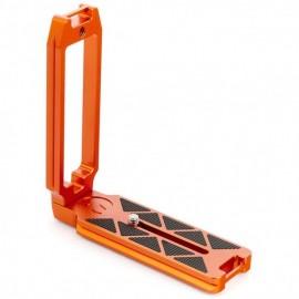 3 Legged Thing QR11-FBC L-Winkel für Vollformat-DSLRs 120 x 128 x 38 mm, mit Gurtschlaufen & 1/4 Zoll Innengewinde, kompatibel mit Arca, Kupfer