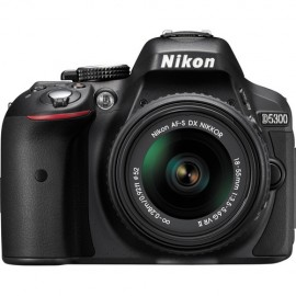 Nikon D5300 Kit inkl. AF-P DX 3,5-5,6 / 18-55 mm G ED VR schwarz inkl. gratis Video Tutorial