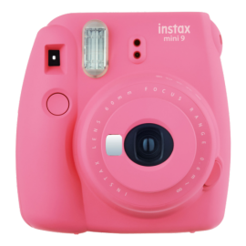 FUJI INSTAX MINI 9 flamingo Set (Fujifilm Instax Mini 9+10er Pack Film + Instax Mini Film Rainbow + 10er Clips + Fotoseil)