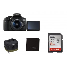Canon EOS 750D Kit + 18-55mm IS STM KIT  inkl. ( Tasche, Speicherkarte, Reinigungstuch )