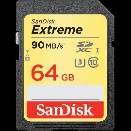SanDisk Extreme SDXC 64GB 90MB/s. UHS-I
