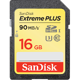 SanDisk Extreme SDHC 16GB 90MB/s. UHS-I