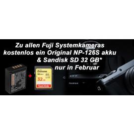 Fujifilm X-T100 + XC 15-45mm schwarz  inkl. zusatz akku NP-F 126S + SD 32 GB
