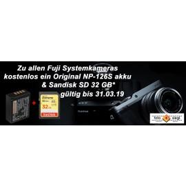 Fujifilm X-T100 + XC 15-45mm + 50-230 silber  inkl. Zusatzakku NP-F 126S + SD 32 GB