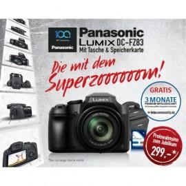 Panasonic LUMIX DC-FZ83 + Tasche + 16GB Speicherkarte