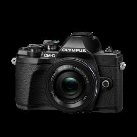 Olympus OM-D E-M10 Mark III + 14-42 EZ schwarz+ 40-150mm 4-5.6 R schwarz set   inkl. SanDisk Ultra 533x  32 GB SD UHS-I-Karte