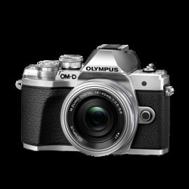 Olympus OM-D E-M10 Mark III +14-42 EZ silber inkl. SanDisk Ultra 533x  32 GB SD UHS-I-Karte