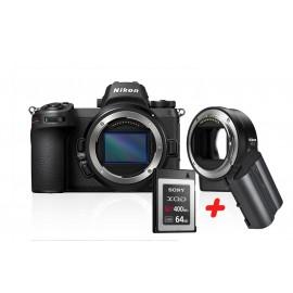 Nikon Z7 Body + FTZ Adapter  inkl. XQD 64 GB & Nikon zusatzakku EN-EL15b
