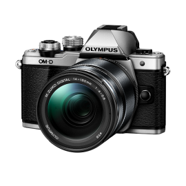 Olympus OM-D E-M10 Mark II Kit inkl. ED 4,0-5,6 / 14-150 mm II silber inkl. SanDisk Ultra 533x 32 GB SD UHS-I Karte