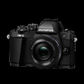 Olympus OM-D E-M10 Mark II Kit inkl. 3,5-5,6 / 14-42 mm EZ schwarz inkl. SanDisk Ultra 533x 32 GB SD UHS-I Karte