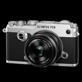Olympus PEN-F Kit + 17mm Silber inkl. SanDisk Ultra 533x 32 GB SD UHS-I Karte