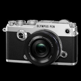 Olympus PEN-F Kit + 14-42mm Pancake Silber  inkl. SanDisk Ultra 533x 32 GB SD UHS-I Karte