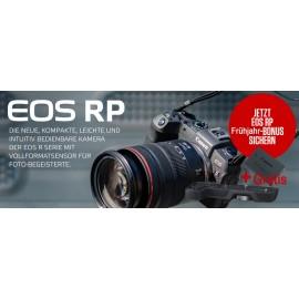 Canon EOS RP Body + Adapter EF-EOS R + Handgriff EG-E1 inkl.LP-E17 Zusatzakku