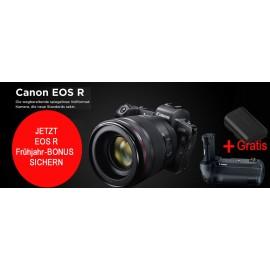 Canon EOS R Body + EF ADAPTER + Batteriegriff BG-E22+ CANON LP E 6 N ERSATZAKKU