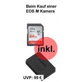 Canon EOS M 50 + EF-M 15-45 / 3.5-6.3 IS STM + EF-M 22 / 2.0 STM  ( inkl. SD 64 GB + Original Zusatzakku )