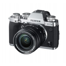 Fujifilm X-T3 + xf 18-55/2,8-4 R LM OIS  Silber  inkl. Zusatzakku NP-F 126S + SD 32 GB