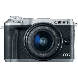CANON EOS M 6 + 15-45 IS STM silber
