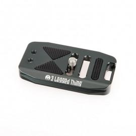 3 Legged Thing BASE70 Basisplatte 70mm für ELLIE-Schnellwechselsystem, kompatibel mit Arca, Grau