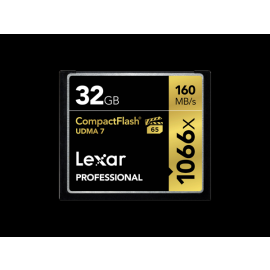 Lexar Compact Flash Card 32GB Professsional 1066x