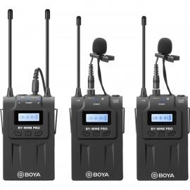 Boya  WM8 Pro-K2 UHF Dual-Channel Wireless Mikrofon mit One Receiver und Two Transmitter