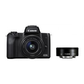 Canon EOS M 50 + EF-M 15-45 / 3.5-6.3 IS STM + EF 50 / 1.8 II + Adapter