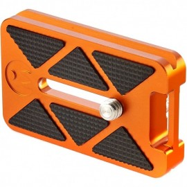 3 Legged Thing QR7 Schnellwechselplatte 62 x 38 mm mit Gurtschlaufe, kompatibel mit Arca