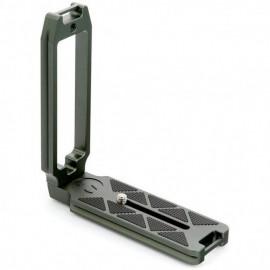 3 Legged Thing QR11-FBC L-Winkel für Vollformat-DSLRs 120 x 128 x 38 mm, mit Gurtschlaufen & 1/4 Zoll Innengewinde, kompatibel mit Arca, Grau