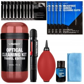 VSGO Optical Cleaning Kit Travel Red