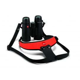 Leica Neopren Fernglasgurt Sport signalrot