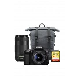 Canon EOS 90D + EF-S 18-55mm IS STM + EF 70-300mm IS II USM + Rucksack + SD-Karte 16GB   TRAVELSET
